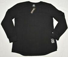 Ecko Unltd Thermal Shirt Men Size L Logo Waffle Tee Black Urban Streetwear Q487