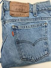 LEVI'S SIZE 34 X 32 MEN'S 550 RELAXED FIT JEANS LIGHT PREWASHED