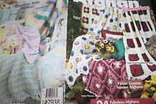 House White Birches Crochet Book 101053 Afghan Jamboree 24 designs