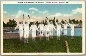 "Berkley, Virginia Postcard ""Jackies Wig-Wagging, St. Helena Training Station"""