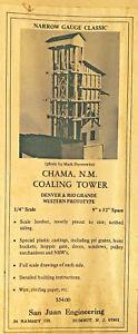 *RARE OLDIE* D&RGW COALING TOWER On3 KIT SAN JUAN ENGINEERING BOX STORED N/R
