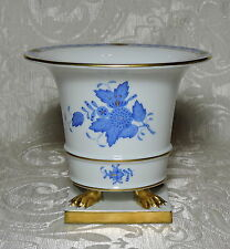 Herend Chinese Bouquet Apponyi Blue Claw Footed Urn Vase Planter 6402 / AB 13cm