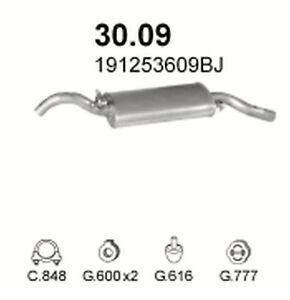 Endtopf neu Auspuff VW Golf 2 1,1l 1,3l 1,6l Abgasanlage Hinten mit Kit