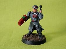 WARHAMMER Esercito Guardia Imperiale-Ufficiale di plastica ben dipinti