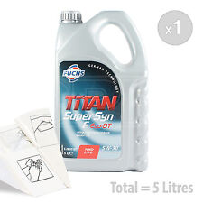 Car Engine Oil Service Kit / Pack 5 LITRES Fuchs Supersyn F Eco-DT 5w-30 5L