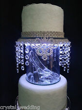 Cinderella inspired  Glass slipper wedding cake separator topper in silver/gold