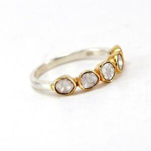 0.60 CT Natural Poki Diamond Certified Sterling Silver Ring SPR 12