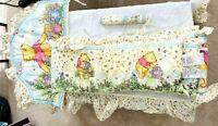 Classic Winnie the Pooh Baby Bedding Bumper Crib Set Unisex Nursery Vtg 1996 GUC