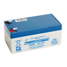Power-Sonic 12v 3.4ah AGM Lead Acid Rechargeable Battery Ps1230 Batteries