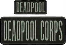 "DEADPOOL CORPS embroidery patch  4x10"" and 2x5 hook on back"
