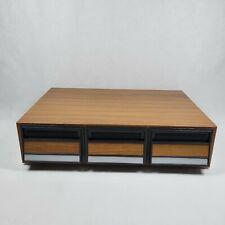 Randix ATD-36 Cassette Tape Storage Cabinet Holds 36 Cassettes Wood Grain Brown