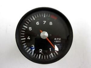 """Vintage 4.5"""" VDO 8000 RPM 4 cylinder tachometer Formula V 12 volt"""