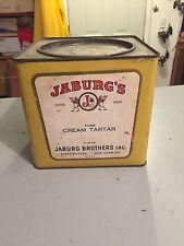 Vintage Advertising Tin, Jaburg Brothers, Spice, Cream of Tarter, 10 Lb. Net