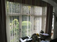 Vertical blinds (Hillary) 3 large bay window size plus spares.