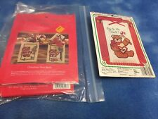 LOT OF 2 CHRISTMAS CROSS STITCH KITS WITH INSTRUCTIONS & EMBROIDERY FLOSS