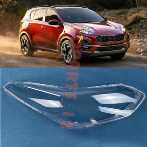 Fit for Kia Sportage 2017-2019 Right Side Headlight Clean Cover PC+Glue