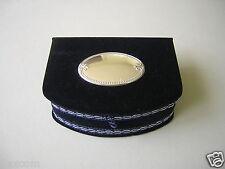 Blauer Samt Schmuck Kasten Schatulle mit 925 Silber Plakette 124,2 g