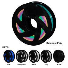 3D Printer PLA Filament 1.75mm 1KG/2.2lb Spool MakerBot Black Rainbow White UK
