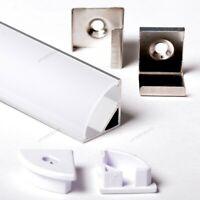 1616 16x16mm Profil Aluminium Angulaire Tour 1M Pour Bandes Strip LED Barre 1MT