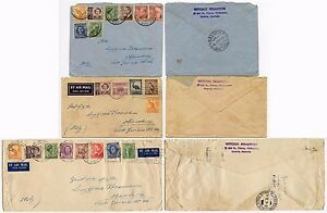 AUSTRALIA to ITALY 21 stamps on 3 ENVELOPES 1951