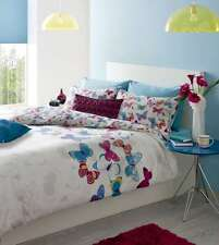 King Size Cream & Multi-coloured Butterfly Fusion Duvet Cover Set