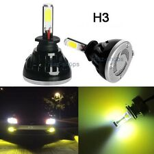 80W H3 8000LM 3000K Yellow Fog Light Conversion Replacement LED Bulbs Kit #4