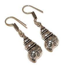 Antique Conch Shell Ladies Designer silver plated Handmade Charm Earrings