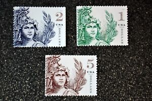 USA2018 #5295 5296 5297 Statue of Freedom - Set of 3 Singles   Mint  NH 1 2 5