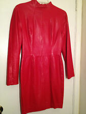 Red North Beach Leather Dress Size 7/8
