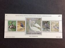 1986 National audbon society wildlife conservation stamps