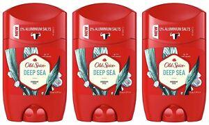 ✅Old Spice Deep Sea Deodorant Deo Stick Deostick ohne Aluminium Herren 3x 50ml✅