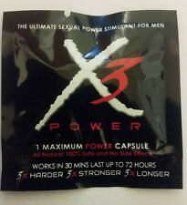 X3 The Ultimate Sexual Power Stimulant for Men (5 Pills)