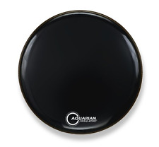 "Aquarian Regulator 22"" Inch Bass Drum Head Black No-Hole RF22BK DrumSkin"