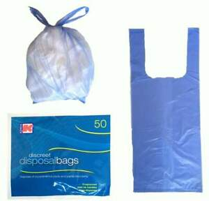 Large Adult Incontinence Nappy Pad Disposal Bags Scented 250 Sacks