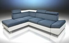 BRAND NEW CORNER SOFA BED 'FELIX'  ! LARGE STORAGE, GREY/WHITE, 2 MEN DELIVERY