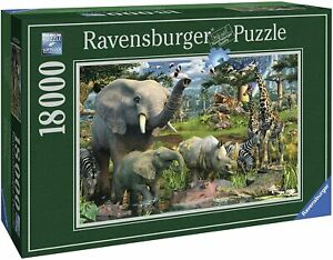 RAVENSBURGER 17823 Animali all'abbeverata puzzle 18000pz