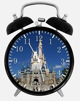 "Disney Castle Alarm Desk Clock 3.75"" Home or Office Decor W317 Nice For Gift"