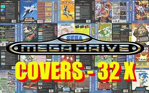 Sega Mega Drive Remplacement Box Art Case Insert Cover - 32X CD - High Quality