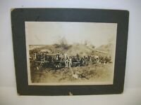Antique Cabinet Card Photo - Team of Sod Busters