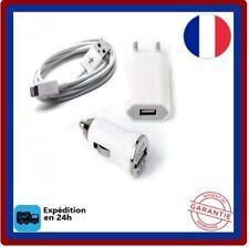 3en1 Cable-USB-pour-iPhone-5-6-7-8-X-XS-XR-XS MaX-iPad-Chargeur-secteur+Voiture