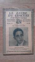 El Guía de La Concierto Y Las Teatro Letra - Boris Golschmann - N º 23-1928
