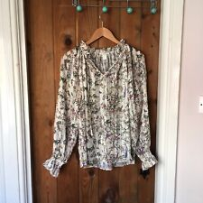H&M Bird Print Blouse Size 8
