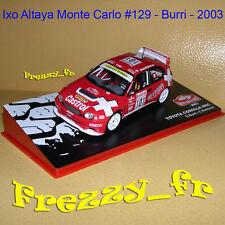 1/43 Ixo * Toyota Corolla WRC * Burri * Rallye Monte Carlo 2003