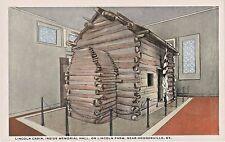 Abe Lincoln Cabin inside Memorial Hall on Lincoln Farm near Hodgenville Kentucky