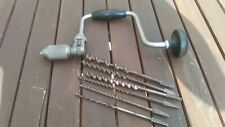 Vintage Stanley Brace no 144=10 & 6 mixed Bit Hand Drill