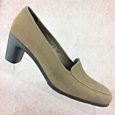 Arche Neutral Taupe Nubuck Leather Pumps Heels in Loafer Style EUC! Size 8 US