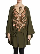 NWT EMILIO PUCCI Saks embroidered silk blend beaded tunic top dress size 6