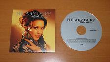 HILARY DUFF - WITH LOVE - E.U. CD SINGLE 1 TRACK CARDSLEEVE PROMO ~ AS NEW !