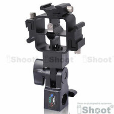 Tri-Hot Shoe Mount Flash Bracket/Umbrella Holder for Canon 580EX II/430EX/550EX