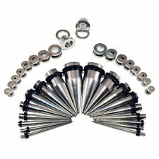 36 Pieces Ear Stretching Kit - Surgical Steel Tapers & Screw Fit Plugs 14G-00G